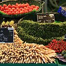 Market in Cahors by Christine Oakley