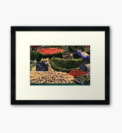 Market in Cahors Framed Print