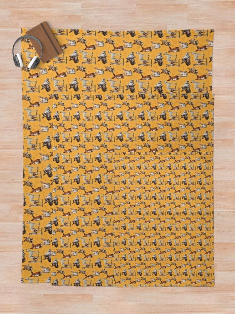 Alternate view of Spanish Podenco Throw Blanket