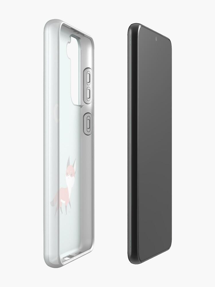 Alternate view of Moon Fox Samsung Galaxy Phone Case