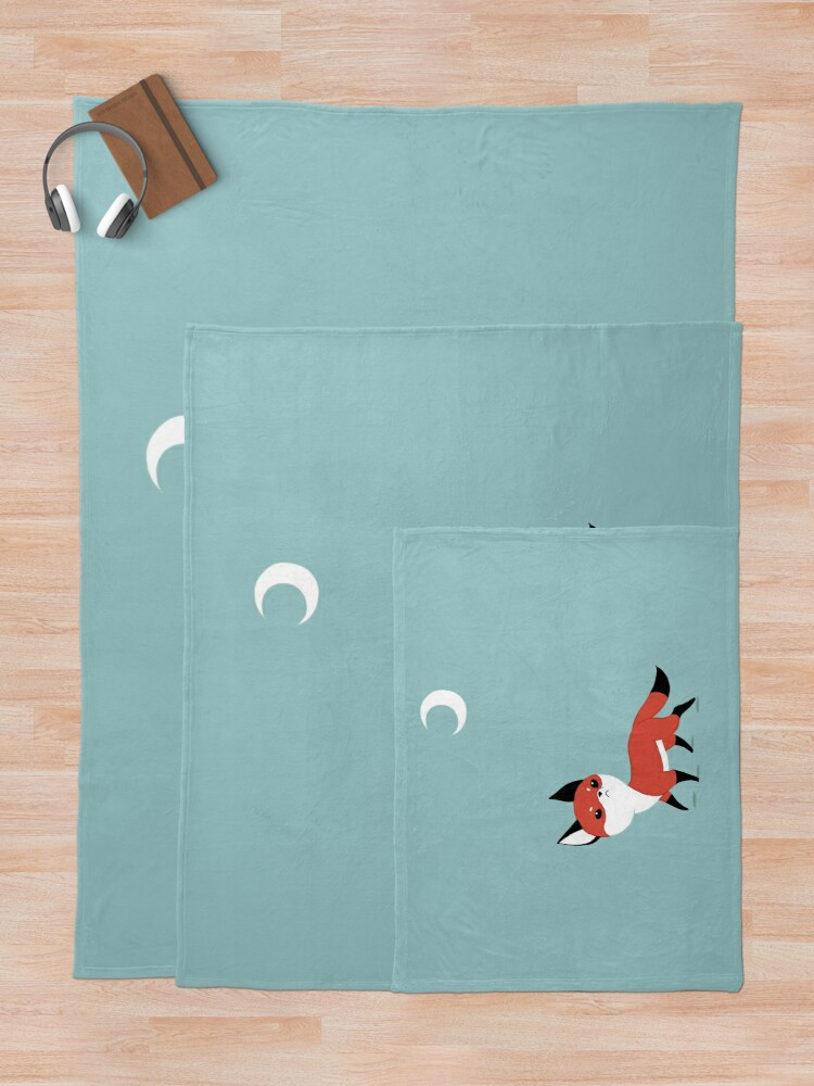 Alternate view of Moon Fox Throw Blanket