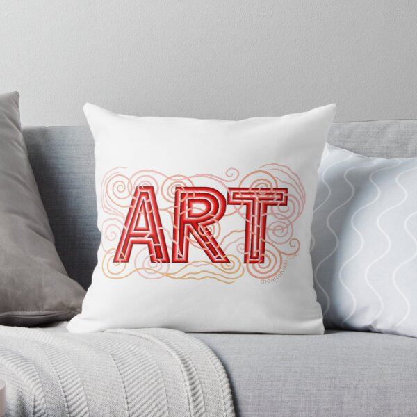 ART In Shades Of Red Throw Pillow