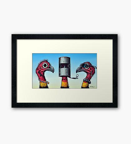 Outlaw Bush Turkeys Framed Print