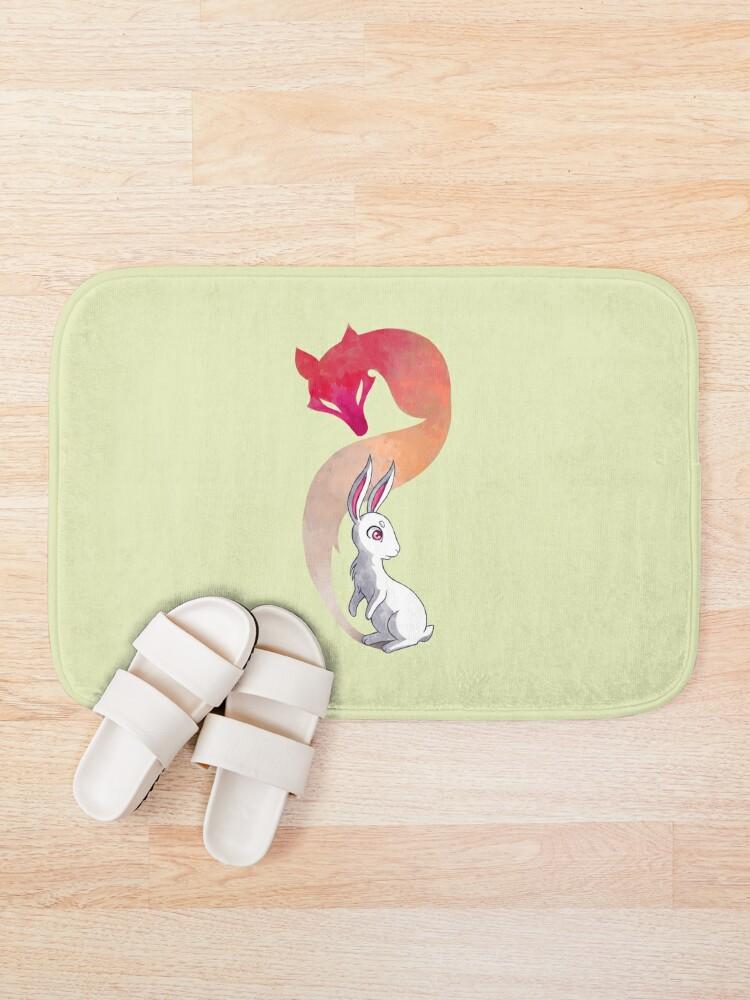 Alternate view of Rabbit and a Fox Bath Mat