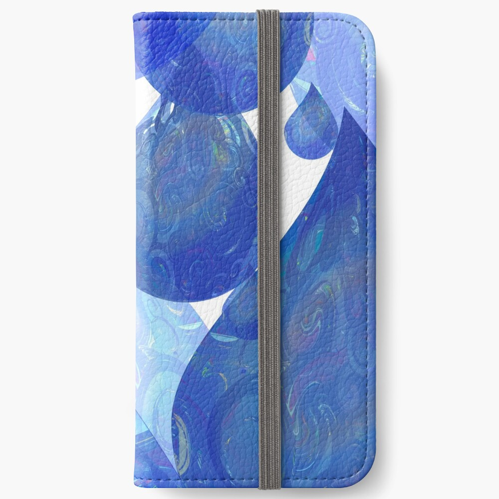 Chubby Rain - Psychedelic Raindrops  iPhone Wallet