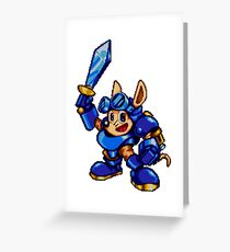 Rocket Knight - SEGA Genesis Sprite Greeting Card