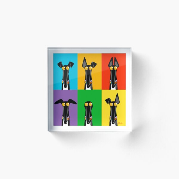 Greyhound Semaphore Acrylic Block