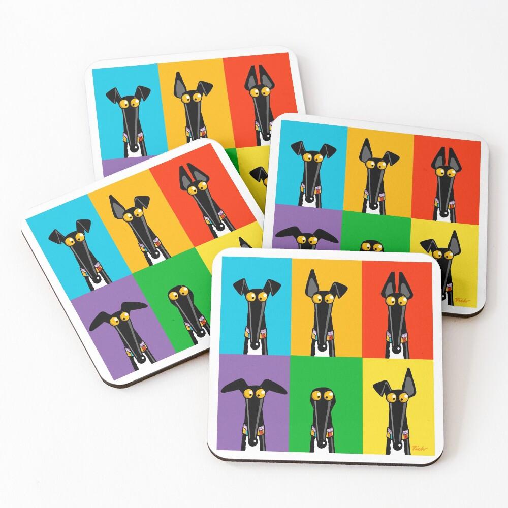 Greyhound Semaphore Coasters (Set of 4)
