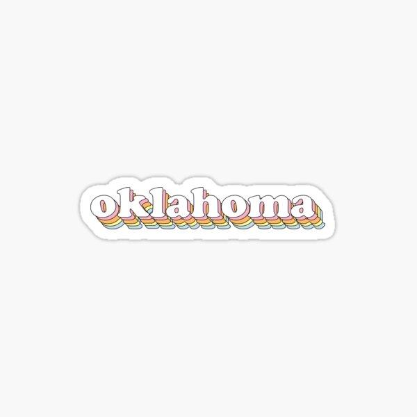 Groovy Oklahoma Sticker
