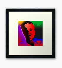 A man with drinking habit due to his failure in love Framed Print