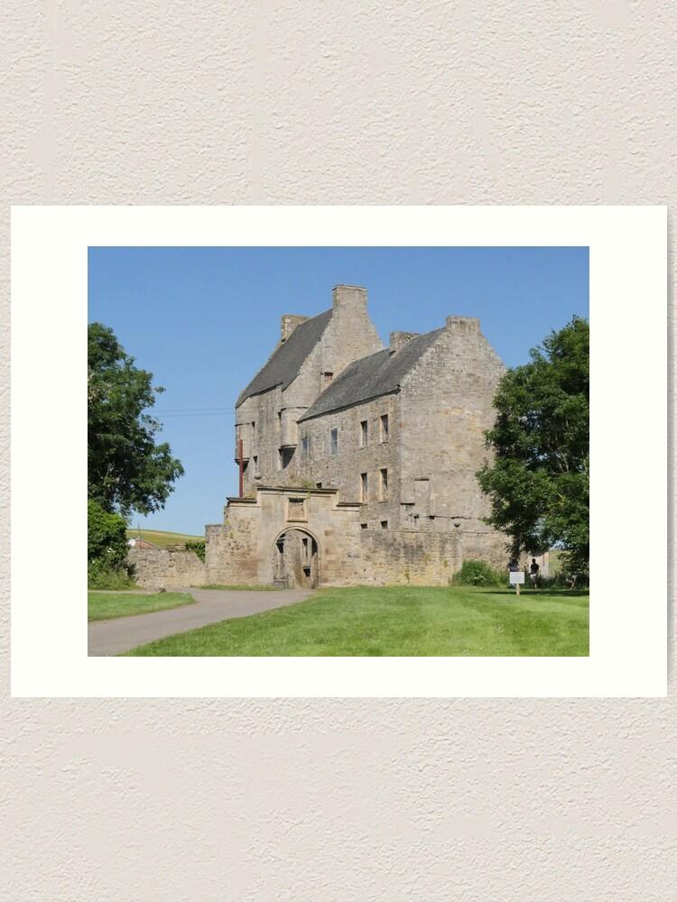 Alternate view of Midhope Castle , Hopetoun estate , near Edinburgh , Scotland Art Print