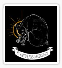 TRASH BLESSINGS - By Any Means Necessary Sticker