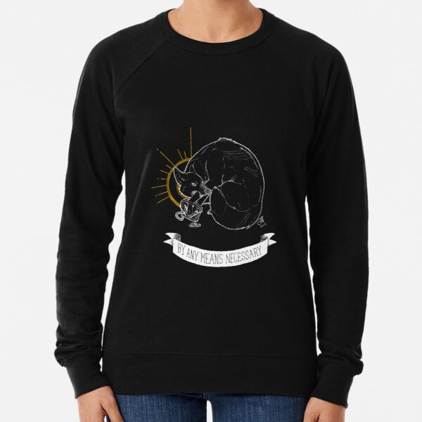TRASH BLESSINGS - By Any Means Necessary Lightweight Sweatshirt