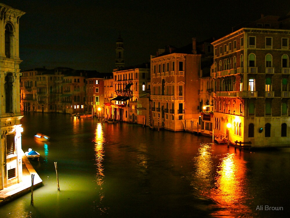 Quot Venice Nightlife Italy Quot By Ali Brown Redbubble