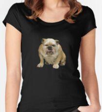 bulldog Women's Fitted Scoop T-Shirt