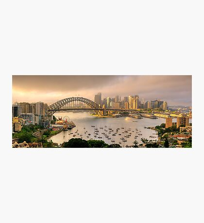 A Little Ray Of Sunshine - Sydney Harbour, Sydney Australia - The HDR Experience Photographic Print
