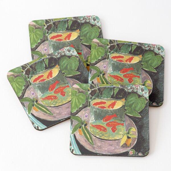 Henri Matisse Goldfish 1911, Goldfishes Artwork, Men, Women, Youth Coasters (Set of 4)