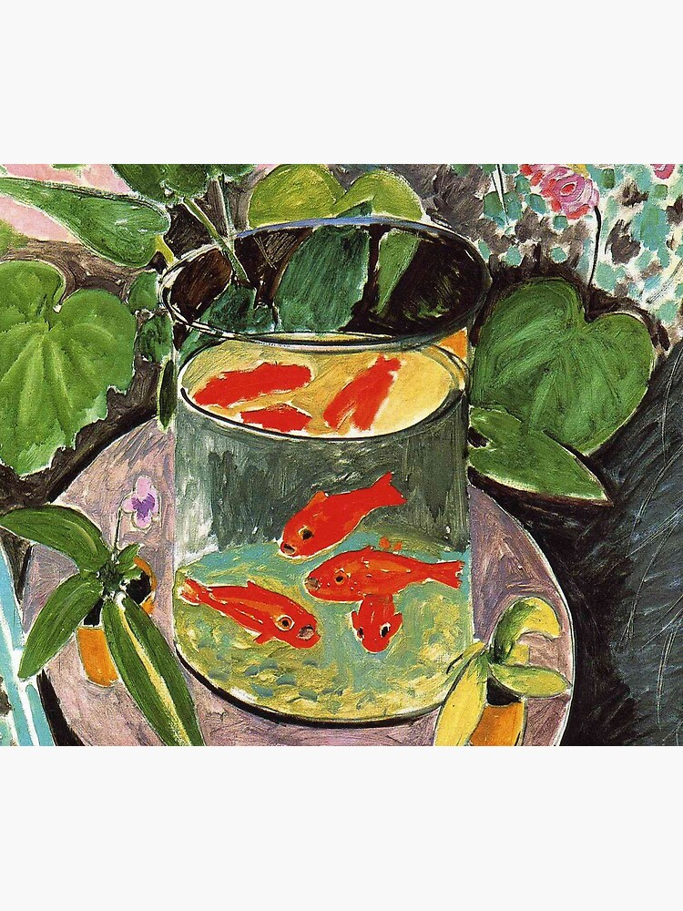 Henri Matisse Goldfish 1911, Goldfishes Artwork, Men, Women, Youth by clothorama