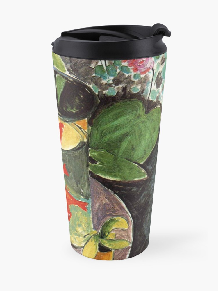 Alternate view of Henri Matisse Goldfish 1911, Goldfishes Artwork, Men, Women, Youth Travel Mug