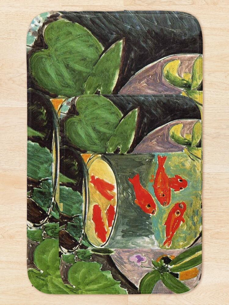 Alternate view of Henri Matisse Goldfish 1911, Goldfishes Artwork, Men, Women, Youth Bath Mat