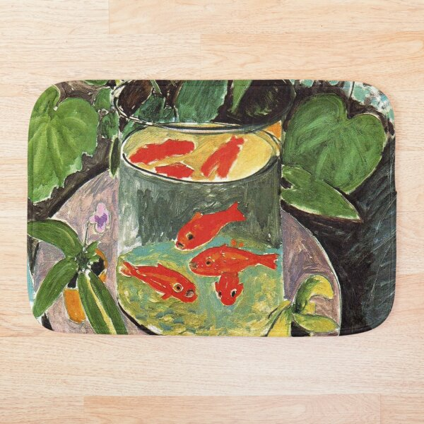 Henri Matisse Goldfish 1911, Goldfishes Artwork, Men, Women, Youth Bath Mat