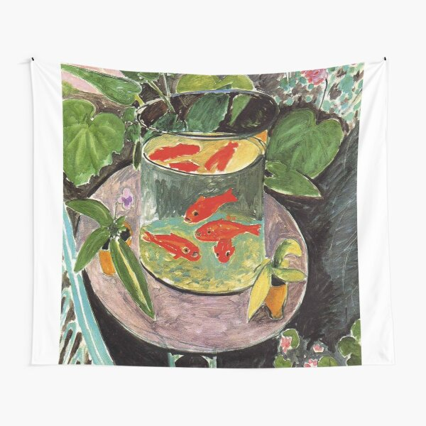 Henri Matisse Goldfish 1911, Goldfishes Artwork, Men, Women, Youth Tapestry