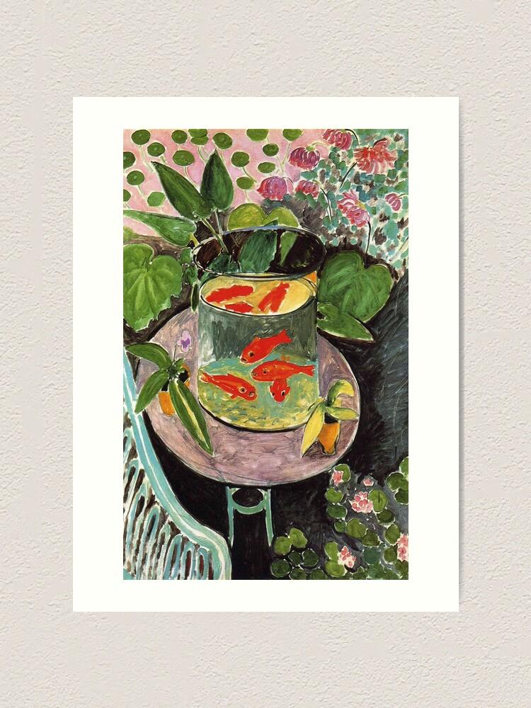 Alternate view of Henri Matisse Goldfish 1911, Goldfishes Artwork, Men, Women, Youth Art Print