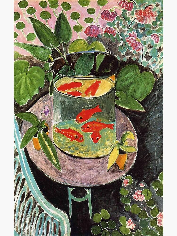 Henri Matisse Goldfish 1911, Goldfishes Artwork, Men, Women, Youth by clothorama