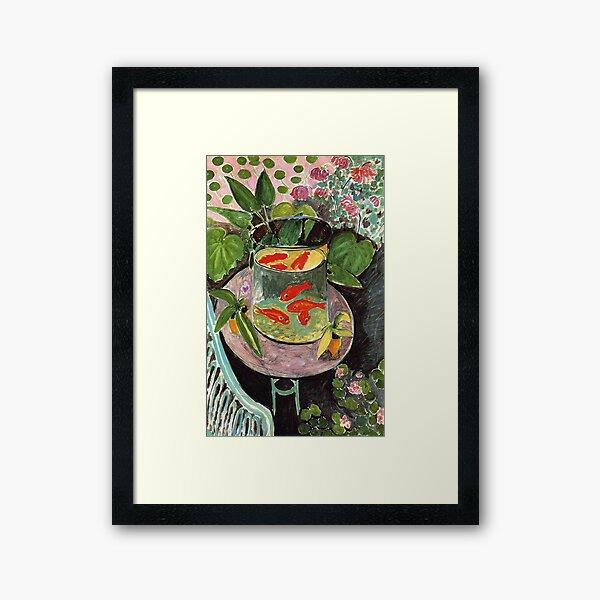 Henri Matisse Goldfish 1911, Goldfishes Artwork, Men, Women, Youth Framed Art Print