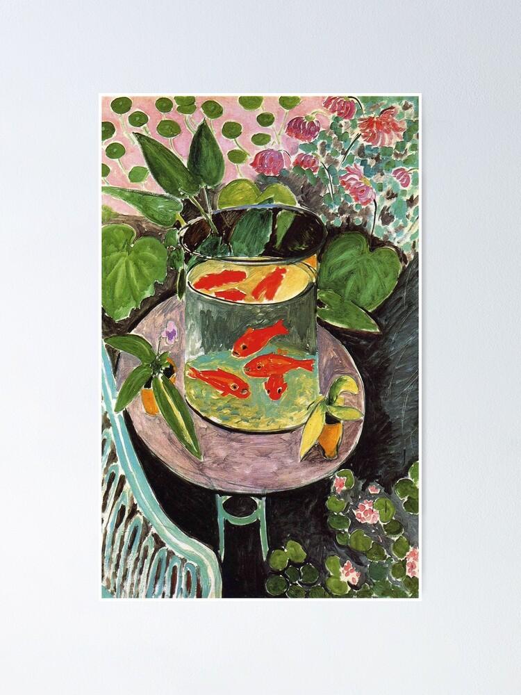 Alternate view of Henri Matisse Goldfish 1911, Goldfishes Artwork, Men, Women, Youth Poster