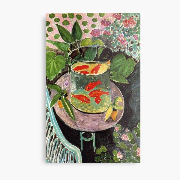 Henri Matisse Goldfish 1911, Goldfishes Artwork, Men, Women, Youth Metal Print