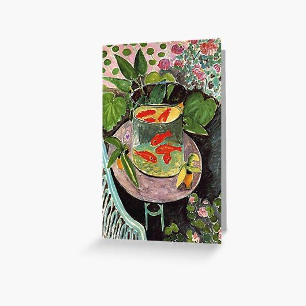Henri Matisse Goldfish 1911, Goldfishes Artwork, Men, Women, Youth Greeting Card
