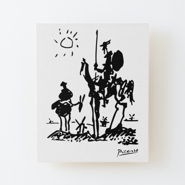 Pablo Picasso Don Quixote 1955 Artwork Shirt, Reproduction Wood Mounted Print