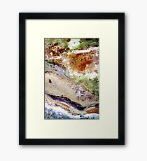 Fields Sand and the Sea - Ariel View Framed Print