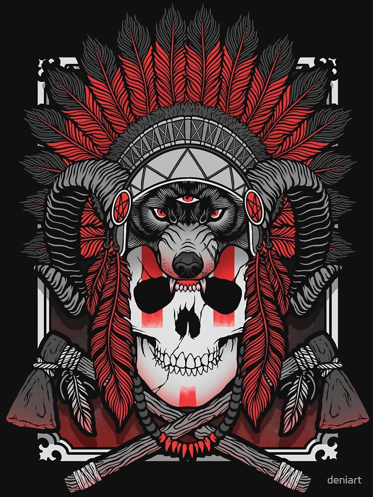 Native Skull by deniart