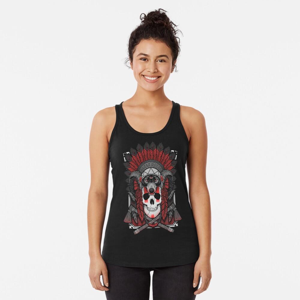 Native Skull Racerback Tank Top