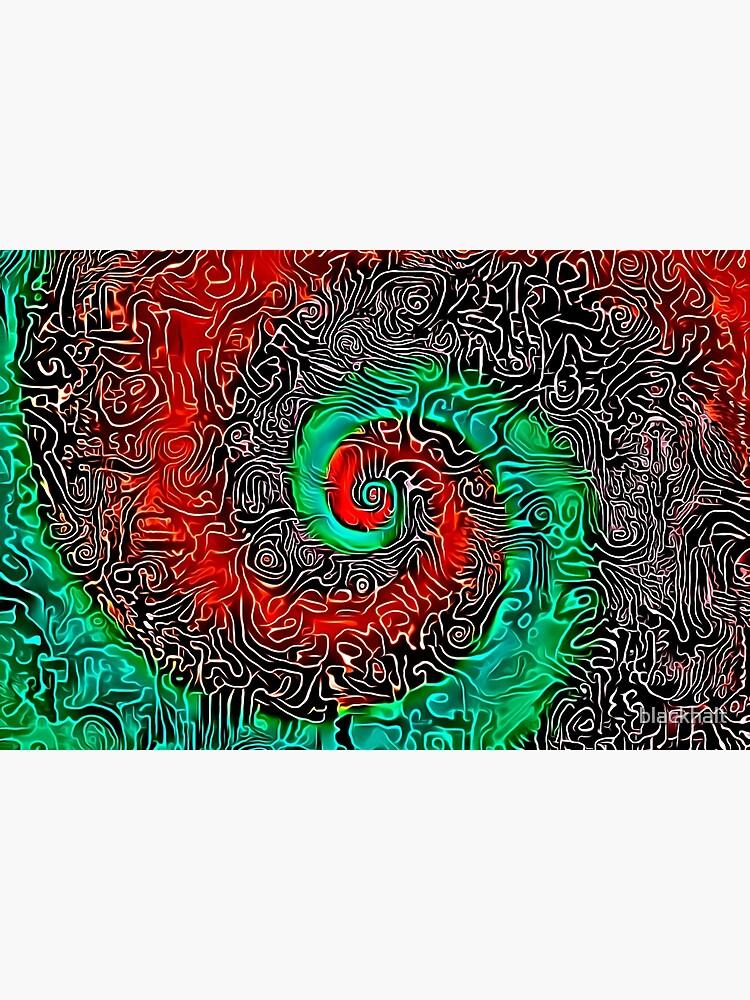 Abstract Golden spiral by blackhalt