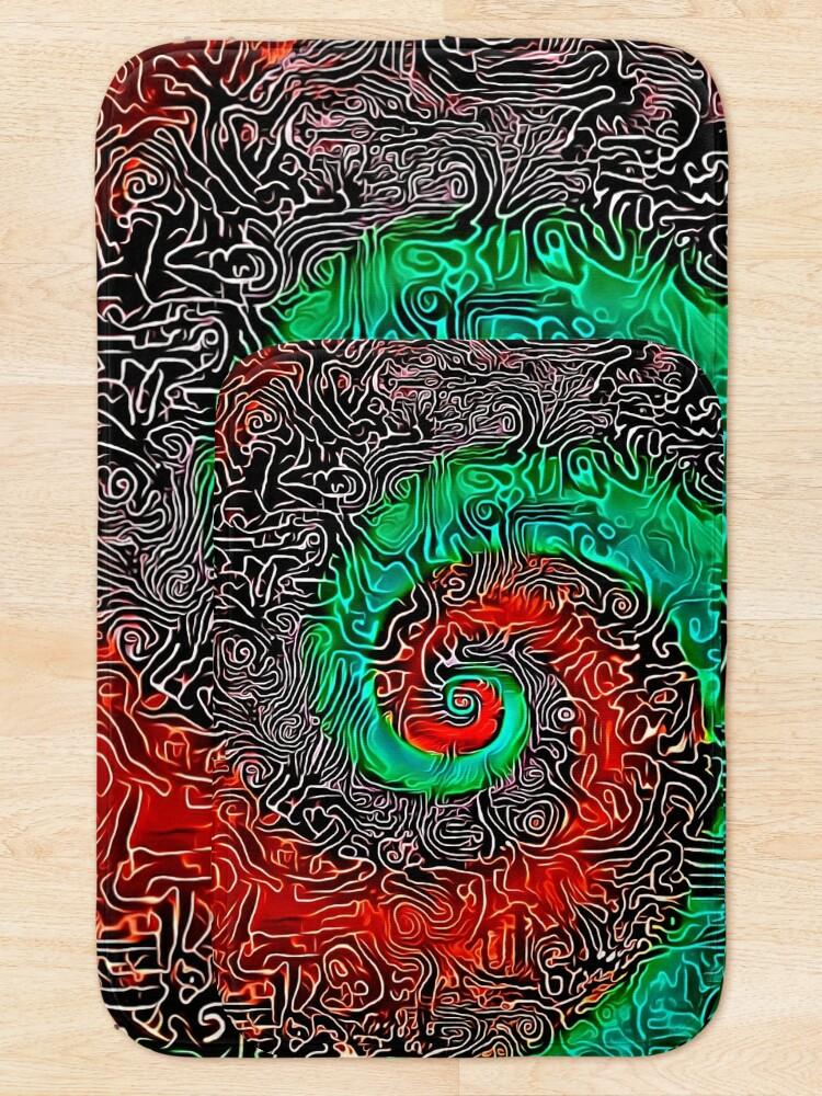 Alternate view of Abstract Golden spiral Bath Mat