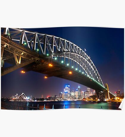 Springtime Harbour Bridge Poster