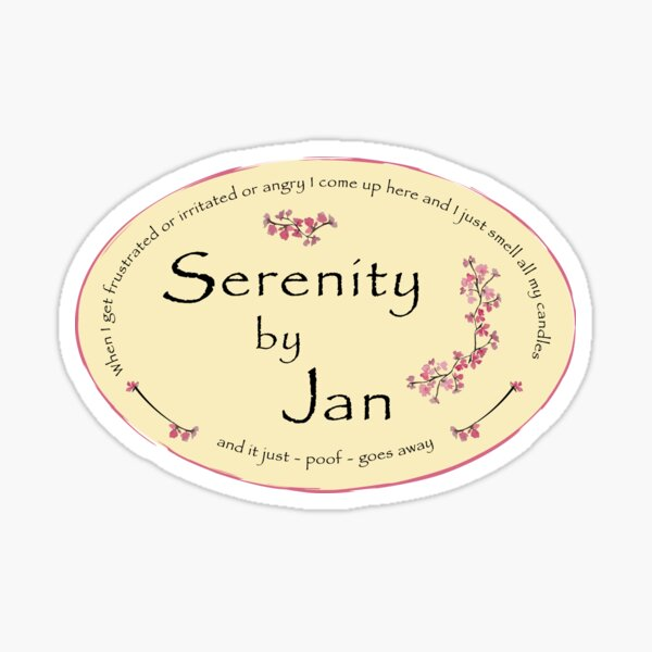 Serenity by Jan The Office Jan's Candles  Sticker
