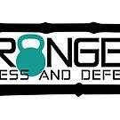 Granger Fitness and Defense Teal Full logo by John Granger