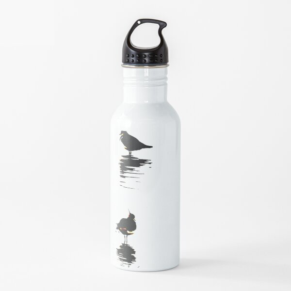 Stylized trio of lapwings artwork Waterbird collection Water Bottle