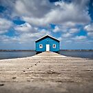 Blue Boat House by Mark Goodwin