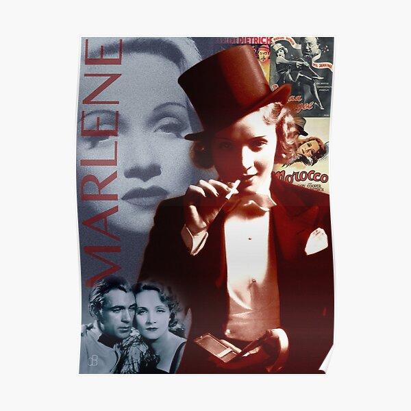Marlene Dietrich Portrait Collage 1 Poster