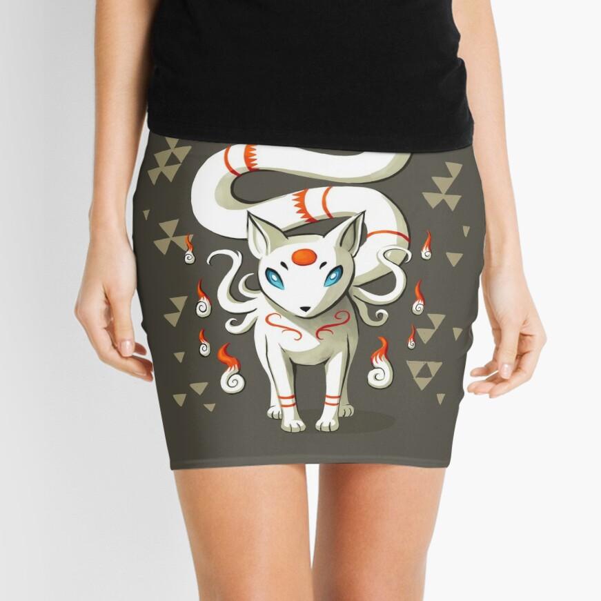 Long Tail Fox Mini Skirt