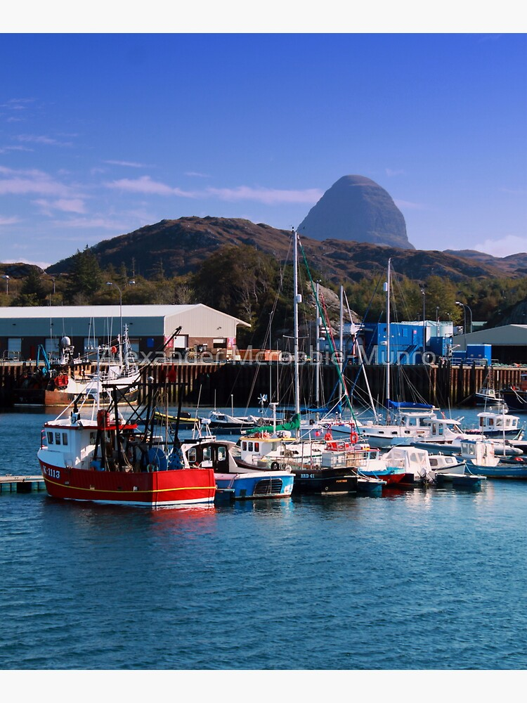 Lochinver Harbour   Suilven   Behind by Alexanderargyll
