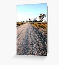Country road - Echuca Greeting Card