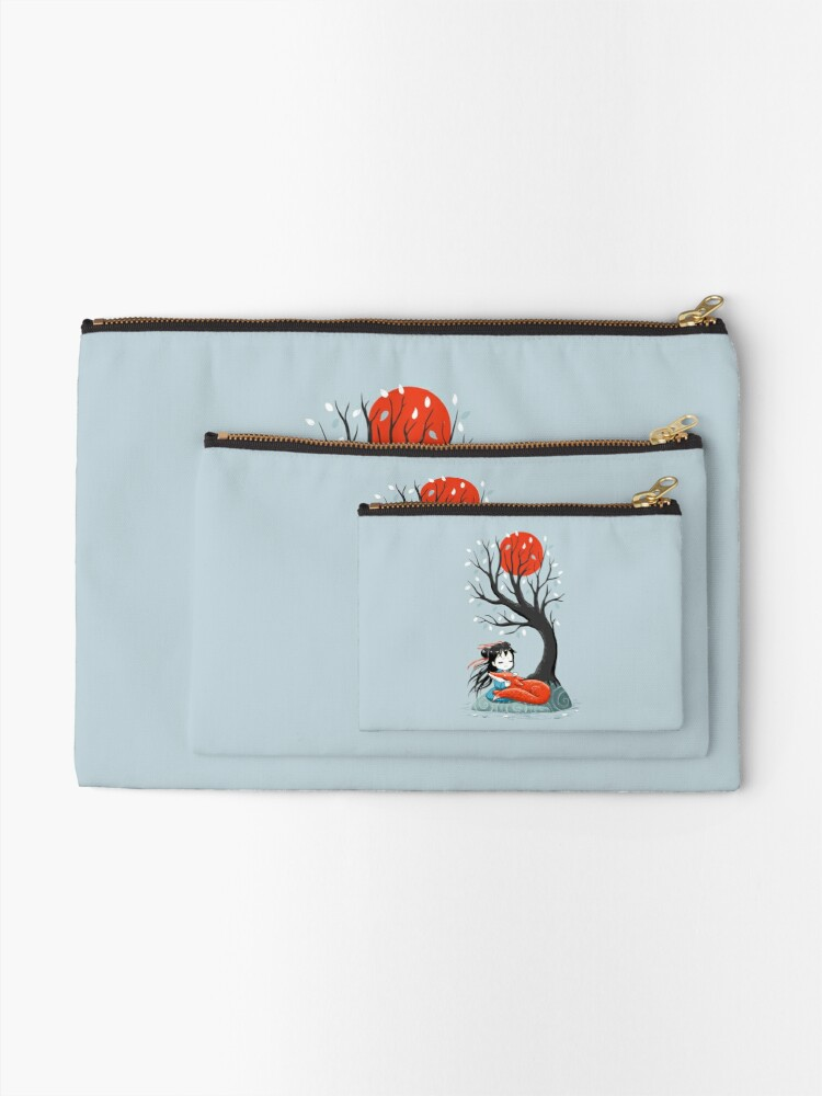 Alternate view of Girl and a Fox 2 Zipper Pouch