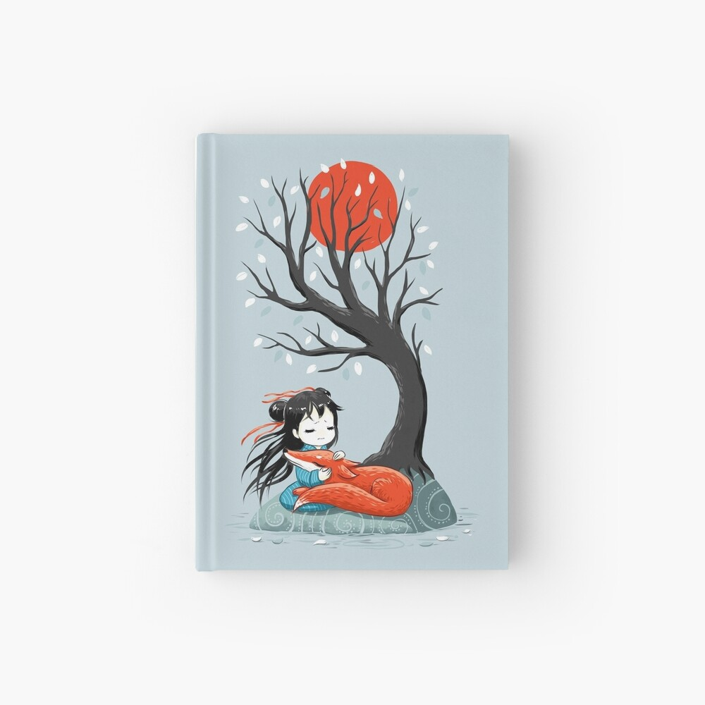Girl and a Fox 2 Hardcover Journal