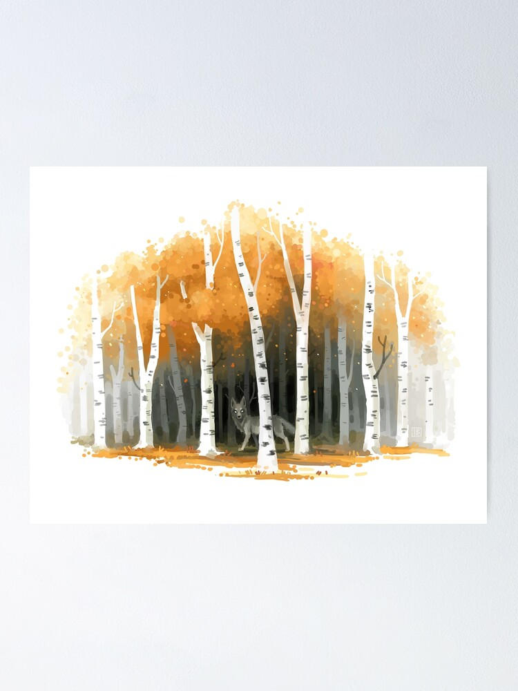 Alternate view of Autumn Wolf Poster